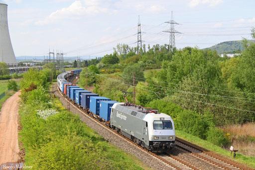127 001 mit DbZ 84031 Klinkum - Luisenthal(Saar) (Sdl.), Ensdorf 09.05.2016