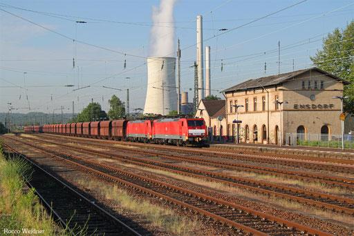 DT 189 030 + 189 037 mit GM 48719 Maasvlakte Oost - Dillingen Hochofen Hütte,  Ensdorf (Saar) 02.06.2017
