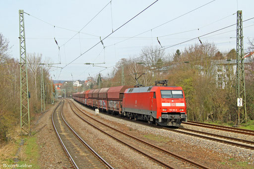 152 161 mit GM 60406 Dillingen Hochofen Hütte - Karlsruhe Raff, Saarbrücken 15.03.2016