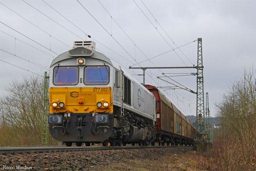 77 002 mit XP 49249 Cerbère/F - Einsiedlerhof, Dudweiler 22.02.2017