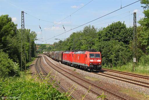 185 023 mit EZ 45229 Woippy/F - Gremberg Bs, Saarbrücken 28.05.2017