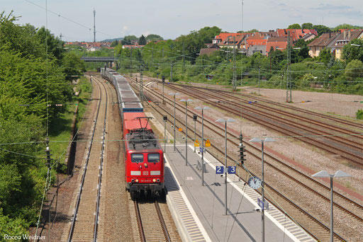 151 075 mit GA 52971  Dillingen(Saar) - Berlin-Lichterfelde West, Saarbrücken-Burbach 31.05.2017
