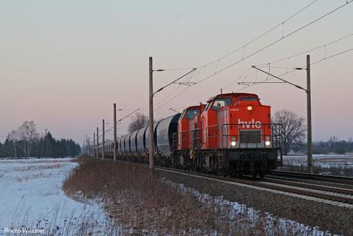 DT 203 616 + 203 105 mit DGS 90957 Wustermark Rbf - Freiberg (Sachs), 22.01.2017