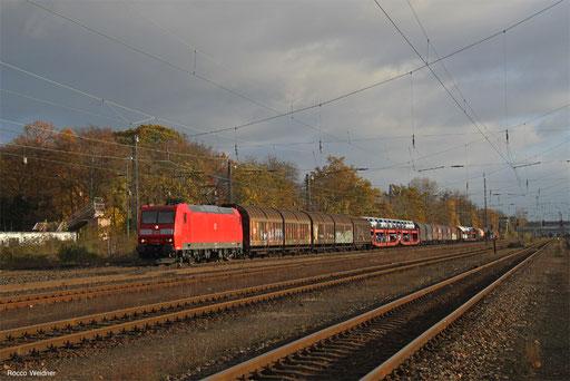 185 002 mit EZ 51165 Seelze Ost - Mannheim Rbf Gr.K, Frankfurt Ost Gbf 19.11.2017