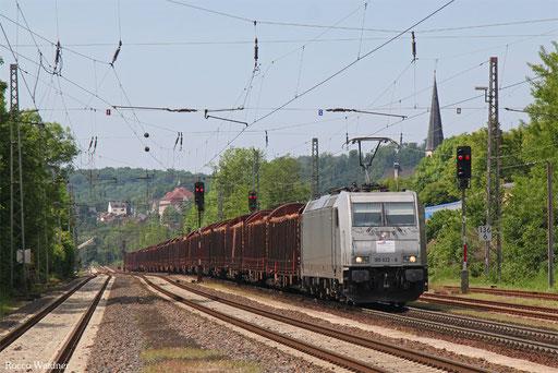 185 622 mit DGS 95498  Merzig - Bebra Umladebahnhof (Sdl.), Dudweiler 28.05.2017