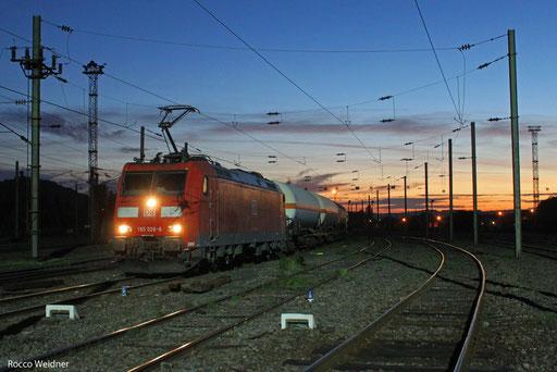 185 028 mit GC 48983 (Saaralbe) Forbach/F - Passau (Sopron/H) (Sdl. leere EKW , Ziel Pancevo/SRB)  18.10.13