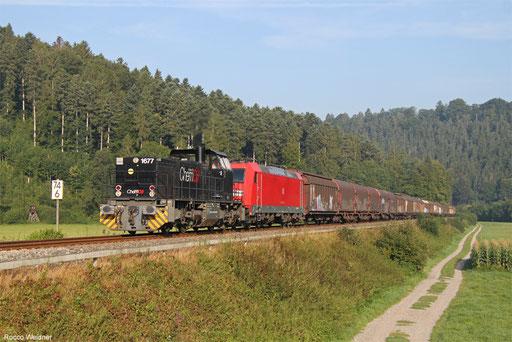 MRCE Dispo 275 009 und DB Cargo 185 164 mit KT 46284 (Gallarate) Schaffhausen PB - Mannheim Rbf Gr.M