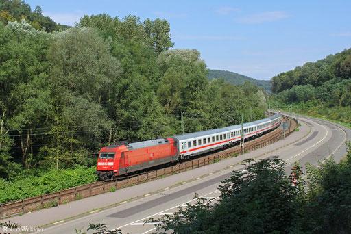 101 064 mit IC 2058  Stuttgart Hbf - Saarbrücken Hbf, Scheidt(Saar)  06.09.2013
