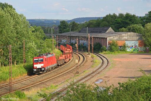 186 338 mit EK 55922 Saarrücken Rbf West - Dillingen Hochofen Hütte, Bous 05.07.2016