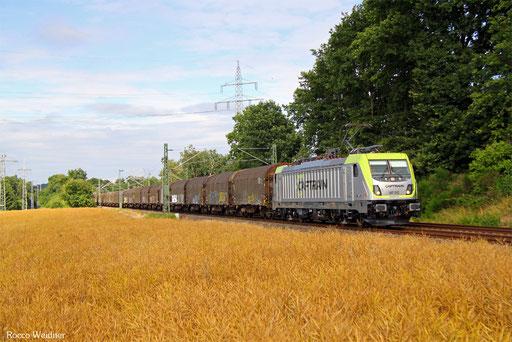 187 012 mit DGS 44428 Fulda Gbf - Ensdorf(Saar) (Sdl. leere SNCF-Shimmns), Kirkel 16.07.2016