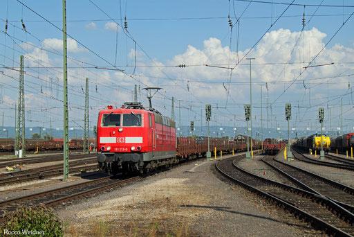 181 213 mit EZ 98849 Mannheim Rbf Gr.E - Neunkirchen(Saar) Hbf (Sdl. Frachten), 07.07.2017