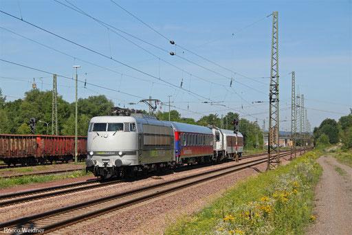 103 222 mit DbZ 89001 Trier Hbf - Westerstetten (Sdl.), Bous(Saar) 07.08.2017