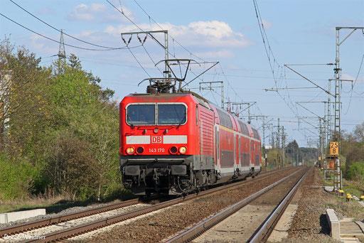 143 170 mit RB 15722 Aschaffenburg Hbf - Wiesbaden Hbf, Weiterstadt 30.03.2017