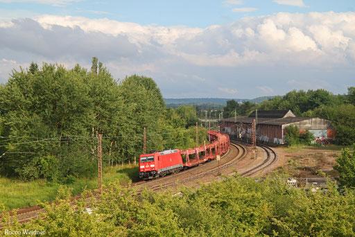 185 401 mit EZ 50848 Mannheim Rbf Gr.G - Dillingen Ford (Sdl. leere Leas), Bous(Saar) 08.07.2017