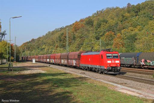 185 035 mit GM 60406 Dillingen Hochofen Hütte - Karlsruhe Rheinbrücke Raffinerie , Luisenthal(Saar) 17.10.2017