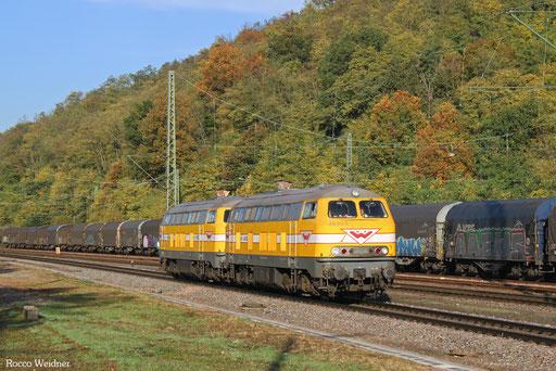 DT 216 012 + 216 122 als Tfzf(D) 92841 Völklingen - Karlsruhe Gbf (Sdl.), Luisenthal(Saar) 18.10.2017