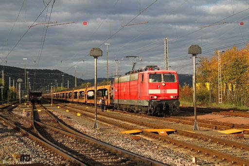 181 211 mit GA 62361 Ehrang Nord - Dillingen Ford (Sdl. leere Autowagen), 13.10.2017