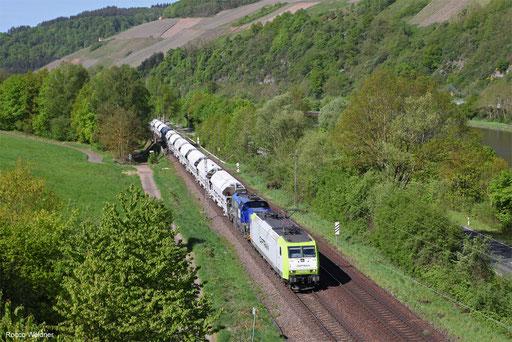 185 505 (4185 ... ) mit DGS 88974 Völklingen - Flandersbach, Saarburg 27.04.2018