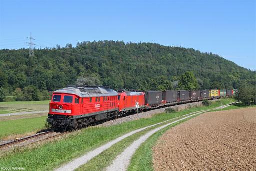 DB Cargo 232 093 und DB Cargo 185 199 mit KT 46291 Geleen-Lutterade - Schaffhausen PB