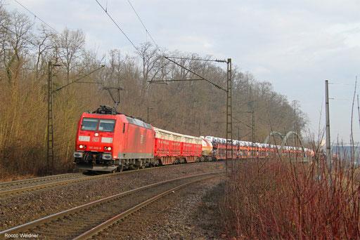 185 028 mit EZ 44250 Mannheihm Rbf Gr.G - Woippy/FR, Saarbrücken 06.03.2018