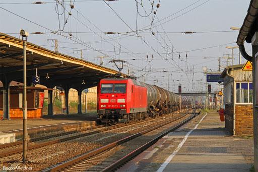 145 038 mit EZ 52005 Magdeburg-Rothensee Rmf - Ruhland, Falkenberg(Elster) 14.09.2014