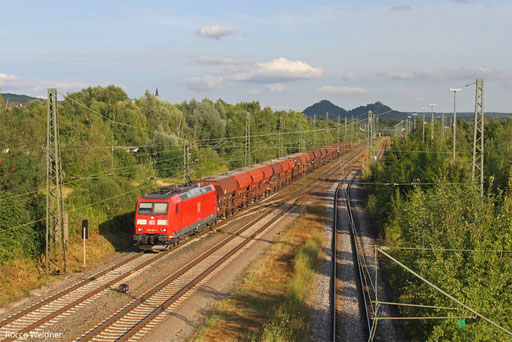 185 081 mit GB 62543 Homburg(Saar) - Ehrang Nord (Sdl.), Bous 06.08.13