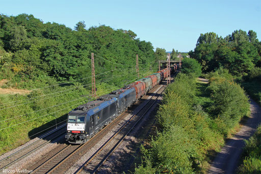 DT 185 553 + 185 554 mit DGS 91211 Göttelborn - Moers Gbf, Saarlouis-Roden 23.08.2016