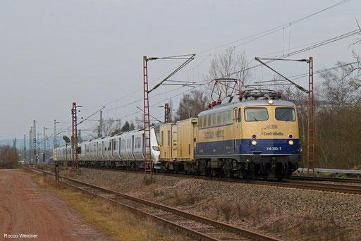 110 383 mit DbZ 89161 Mönchengladbach - Völklingen (Sdl.), Ensdorf (Saar) 20.02.2018