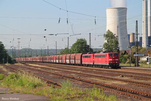 DT 151 082 + 151 135 mit GM 62553 Oberhausen West Orm - Dillingen Zentralkokerei (Sdl. Kohle in WP-Fal), Ensdorf (Saar) 02.06.2017