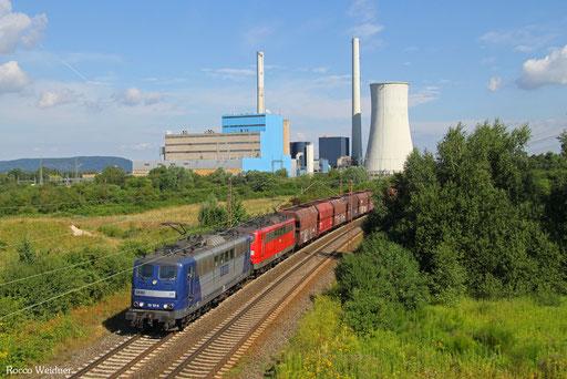 DT 151 151 + 151 083 mit GM 48745 Maasvlakte - Fürstenhausen, Ensdorf(Saar) 01.08.2016