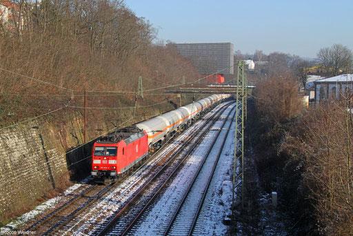 185 028 mit GC 44422 Wackerwerk - Forbach/F (Bantzenheim) (Sdl. Butadien), Saarbrücken 20.01.2016