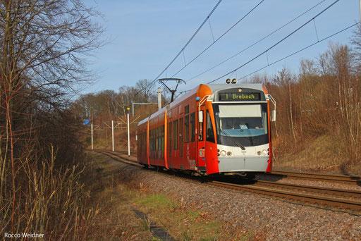 """Tz 1003 """"Enovos Deutschland SE"""" als S1 Heusweiler Markt - Brebach Bahnhof, Saarbrücken-Von der Heydt 31.12.2013"""