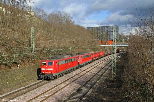 DT 151 055 + 151 109 mit EZ 50848 Neunkirchen(Saar) Hbf - Hagen-Vorhalle Einf (Sdl. Walzdraht), Saarbrücken 07.03.2017
