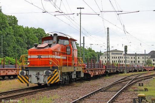 "Henschel DHG 500 C ( Saarstahl AG Lok ""52"") mit GM 60423 aus Völklingen, Neunkirchen(Saar)  03.07.2016"