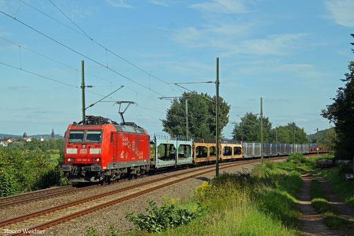 185 090 mit EZ 50849 Saarbrücken Rbf West - Fürstenhausen (Sdl. leere Laes), Gersweiler 22.08.2017