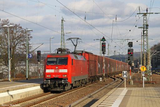 152 078 mit GA 52784 Rüsselsheim Opelwerk - Einsiedlerhof, Kaiserslautern 06.02.2017