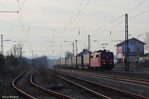 151 021 mit GA 60144 Saarbrücken Rbf Nord - Braunschweig Rbf, Bexbach 05.03.2013