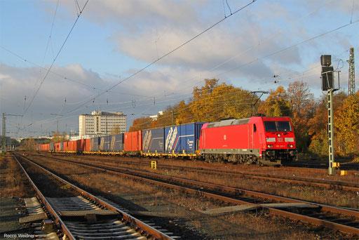 185 201 mit GA 52785 Einsiedlerhof - Eisenach Gbf, Frankfurt Ost Gbf 19.11.2017