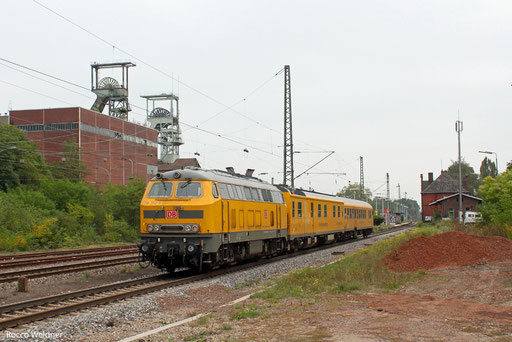 218 392 als NbZ 94339 Ehrang Nord - Saarbrücken Hbf (Sdl.), Luisenthal (Saar) 28.09.2013