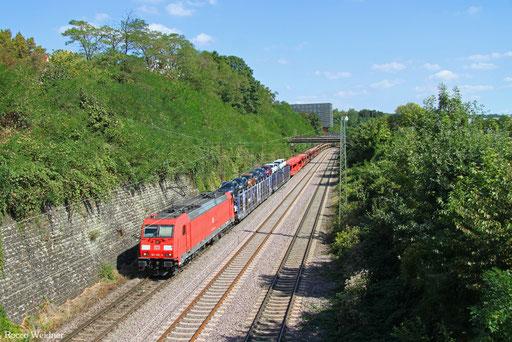 185 285 mit GA 62415 Saarbrücken Rbf Nord - Dillingen Ford (Sdl.), 06.09.2016