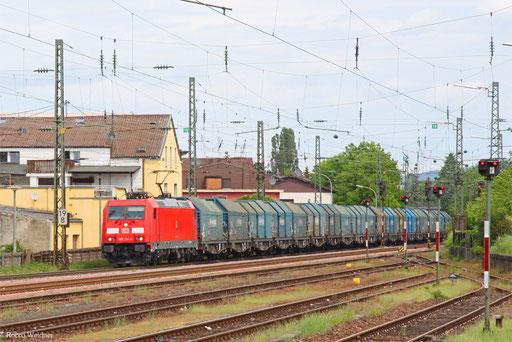 185 214 mit GM 44420 Cottbus - Forbach/F (Sdl. Kupfer), Ensdorf(Saar) 22.05.2016