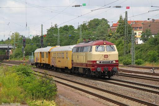 218 105 mit DGV 92348 Luisenthal(Saar) - Rottweil (Sdl.), Burbach 26.07.2017