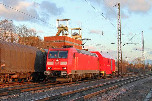 185 170 mit Hilfz 98841 Saarbrücken Rbf Mitte - Dillingen Hochofen Hütte (Sdl.), Luisenthal(Saar) 17.01.2017