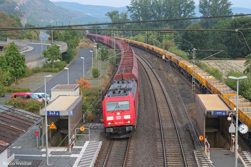 185 270 mit GM 45196 (Linz Stahlwerke) Passau Grenze - Neuss Gbf (Sdl. leere WP-Fal aus Erzverkehr)
