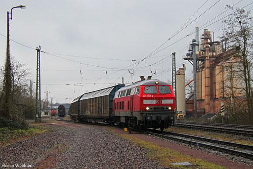 218 003 mit EK 55446 Brebach - Saarbrücken Rbf Nord, 07.02.2017