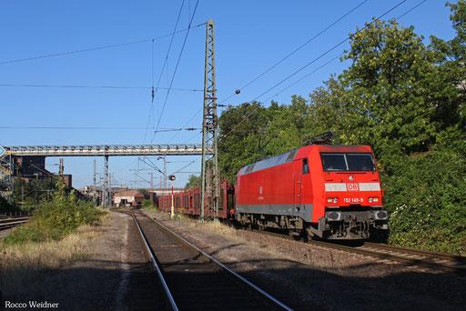 152 145 mit GA 62754 Dillingen Ford - Fallersleben (Sdl. SRA leere P-Wagen), 02.09.2013