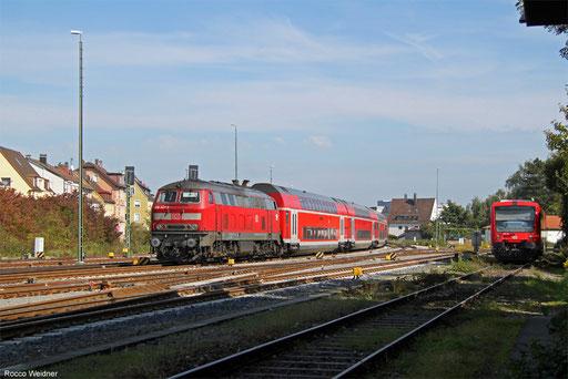 218 427 mit IRE 4217 Stuttgart Hbf - Lindau Hbf, Friedrichshafen 22.09.2017