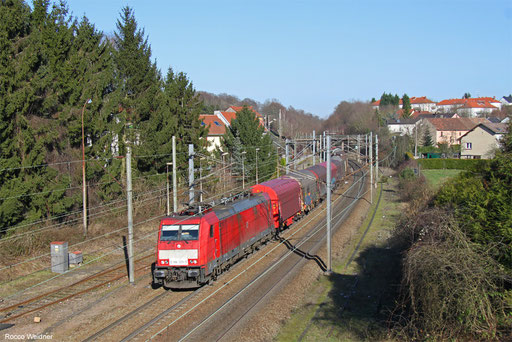 186 329 mit EZ 44220 Mannheim Rbf Gr.G - Vaires-Torcy/FR, Forbach(Moselle) 14.02.2018