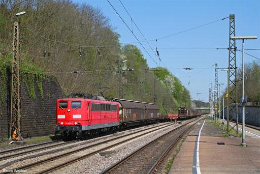 151 026 mit EZ 51914 Mannheim Rbf Gr.G - Saarbrücken Rbf Nord, Jägrsfreude 18.04.2018