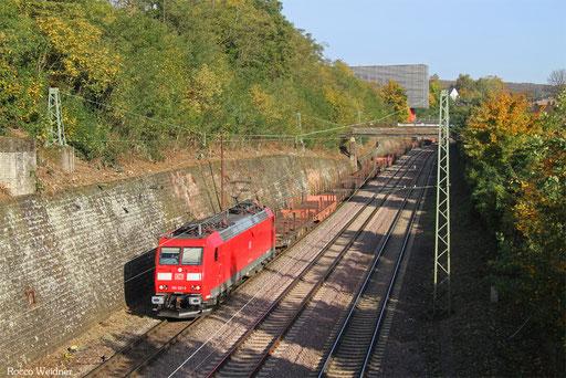 185 021 mit GM 60434 Saarbrücken Rbf West - Völklingen, 16.10.2017